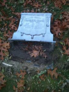 headstones vandalized at oak hill cemetery