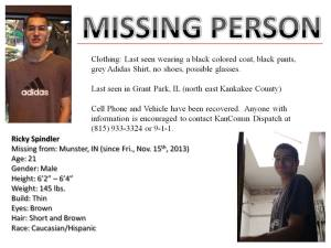 Ricky Spindler, Missing since 11/15/2013