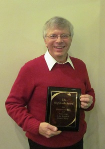 Joe Wzolek receives Highlands Award
