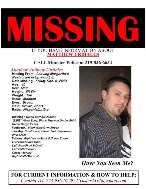 Matthew Urdiales missing in Lynwood, IL